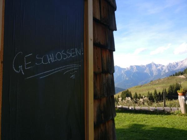 Jagglhütte für 2018 geschlossen